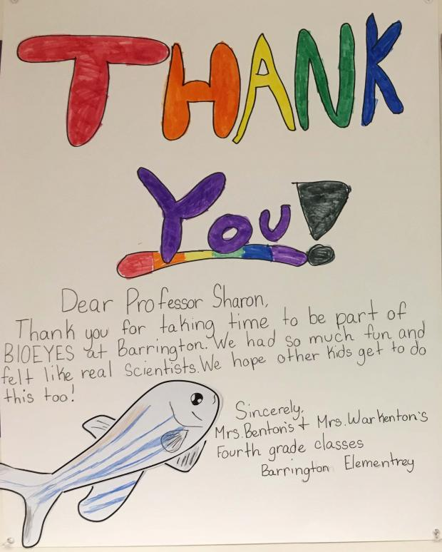 Barrington Elementary Thank You note
