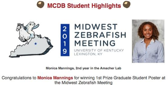 Monica Mannings Poster Award Announcement - MWZFISH 2019