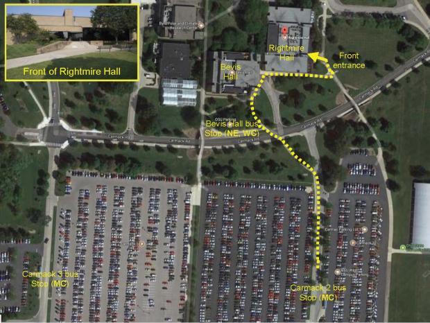 Campus Bus Stops near Rightmire Hall