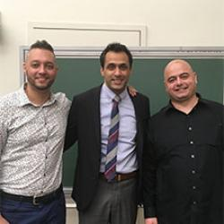 Amit Sharma with Aman Husbands and Ruben Petreaca
