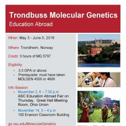 Trondbuss Molecular Genetics - Education Abroad