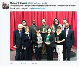 2017 Denman Mentor Awardees