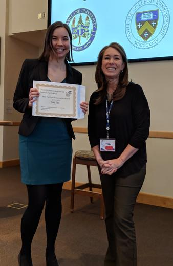 Emily Teets Best Platform Award at OHZU conference