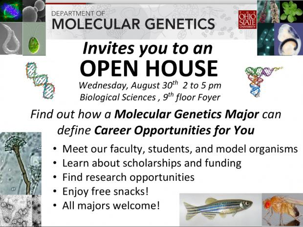 Molecular Genetics Open House 2017