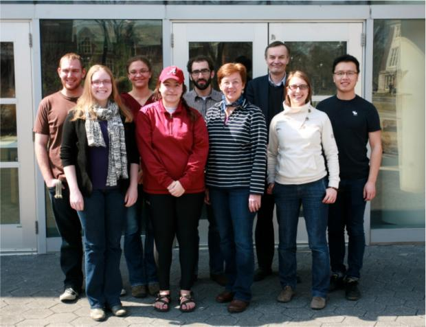 Spring 2014 visit by Drs. Graumann (2nd from right) and Evans (3rd from right) from Oxford Brookes.