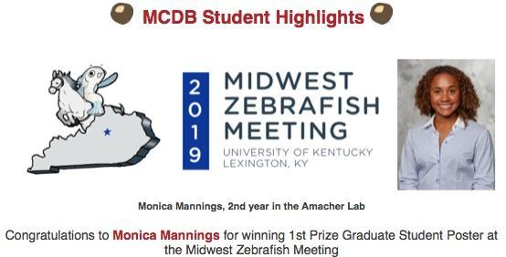 Monica Mannings Poster Award Announcement - MWZFISH 2019