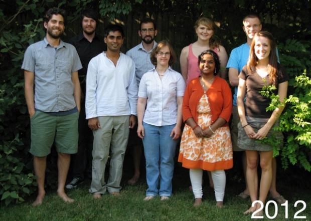 Slotkin Lab Members - 2012