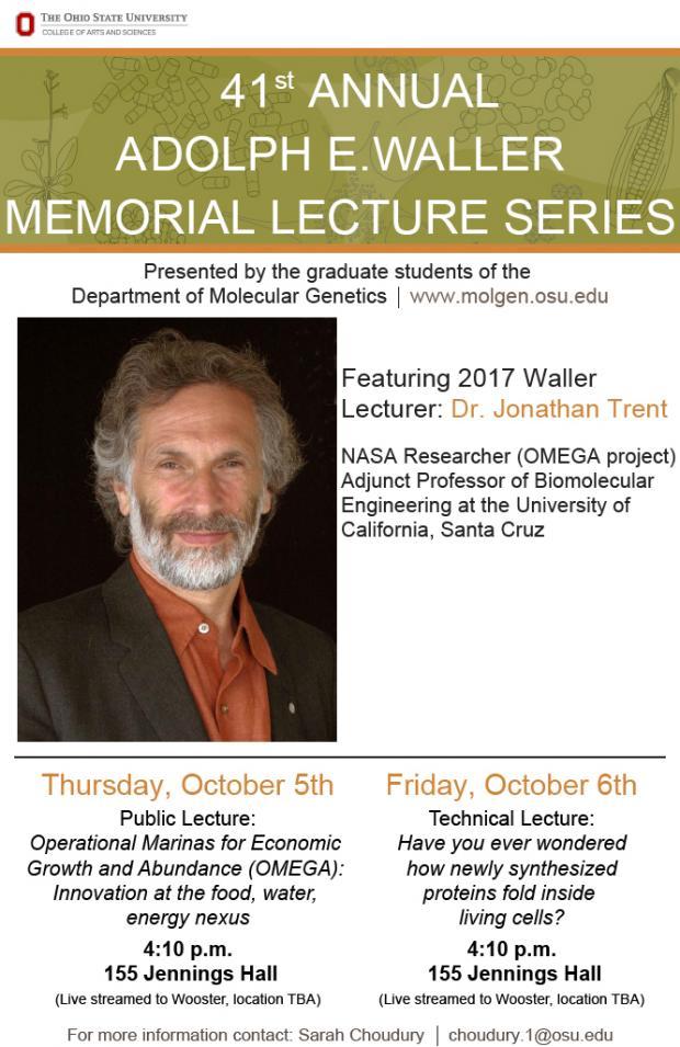 41st Waller Memorial Lecture