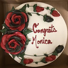 Cake for Monicas Candidacy Celebration